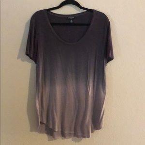 Kenneth Cole purple ombré t shirt EUC